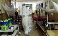 エボラ出血熱の患者が入るシエラレオネの国立病院=現地のWHOチーム提供・共同