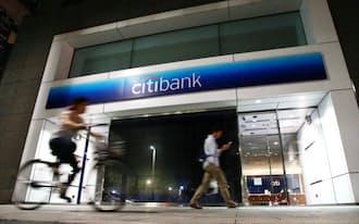 シティバンク銀行の都内の支店