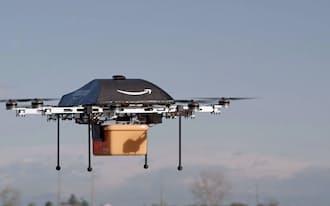試験飛行するアマゾンの無人機=アマゾン・ドット・コム提供、共同
