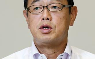 インタビューに答える原子力規制委の更田委員