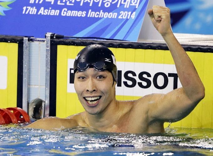 萩野が日本新で金 競泳男子200自由形、アジア大会: 日本経済新聞