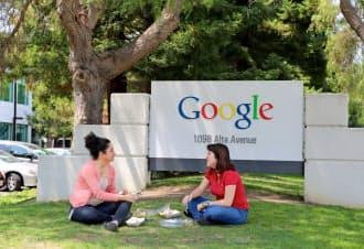 グーグル本社は大学のキャンパスのような開放的な雰囲気を持つ(カリフォルニア州マウンテンビュー市)