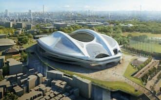 新国立競技場のイメージ=日本スポーツ振興センター提供