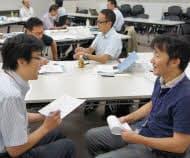 管理職研修に参加するソニーの社員(東京都港区)