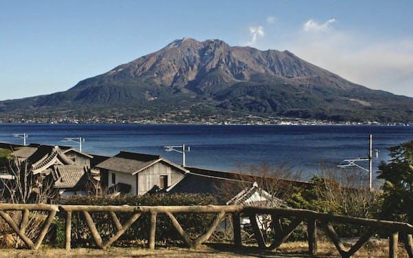 仙巌園からは鹿児島の象徴、桜島がくっきりと見えた