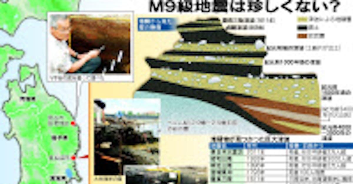 東北の地層に残る、6000年の巨大津波の痕跡: 日本経済新聞