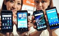 KDDIが発表したWiMAX対応のスマートフォン