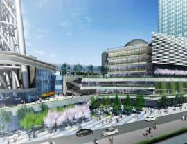 商業施設「東京ソラマチ」はスカイツリーに隣接(完成予想図、(C)TOKYO―SKYTREETOWN)