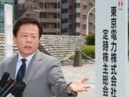 記者の質問に答える東京都の猪瀬副知事(27日、東京都渋谷区)