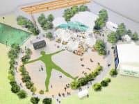 中心は円形広場に。巨大な人型ハーブガーデンも(完成イメージ)