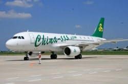 中国・春秋航空は上海―茨城線などを運航している(茨城空港)