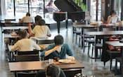 「カレッジハウス扶桑」に併設のカフェテリア(東京都八王子市の拓殖大学八王子キャンパス)