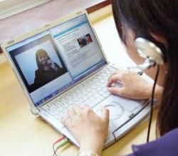スカイプを使いフィリピンの講師と会話する(レアジョブのサービス)