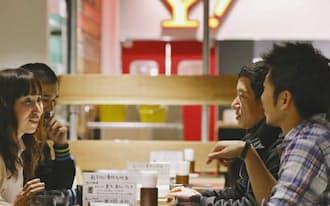 ヤフーは社員食堂を社外開放、交流の場に(東京都港区)