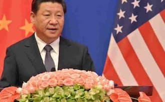 中国は米国主導の国際金融秩序に挑戦している(9日、北京での米中戦略・経済対話で演説する習国家主席)