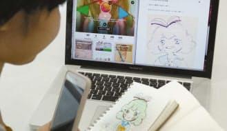 「note」ではイラストなどの作品を個人売買できる