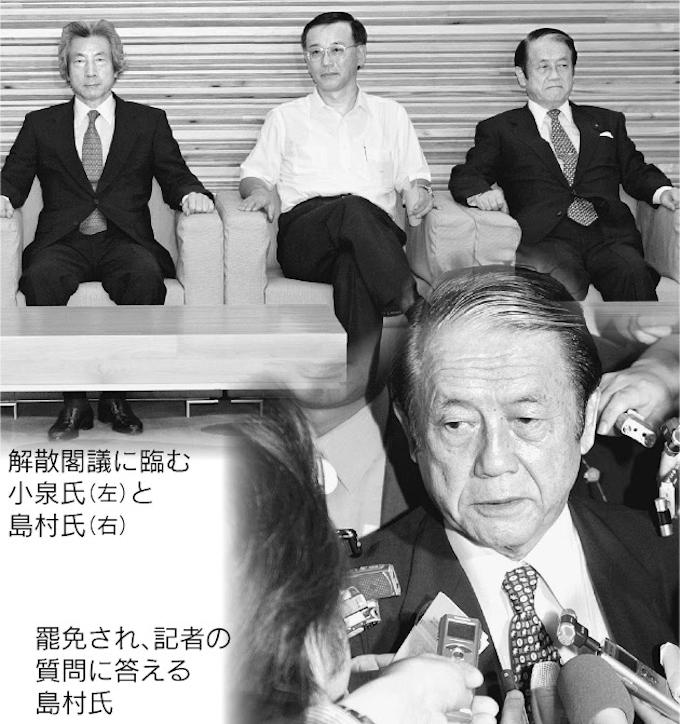 郵政解散、島村農相を罷免(2005年): 日本経済新聞