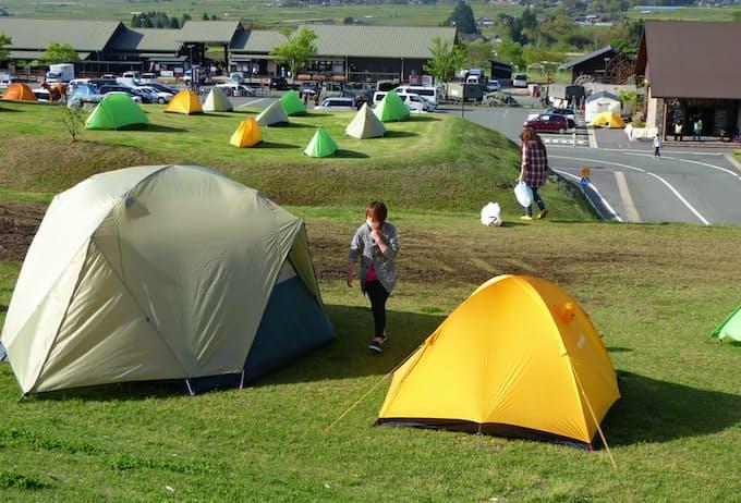 テント 避難 所