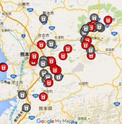 「Youth Action for Kumamoto」はSNSで給水所などの情報を集めた