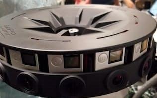 リング状に取り付けた16個のカメラで、360度撮影できる