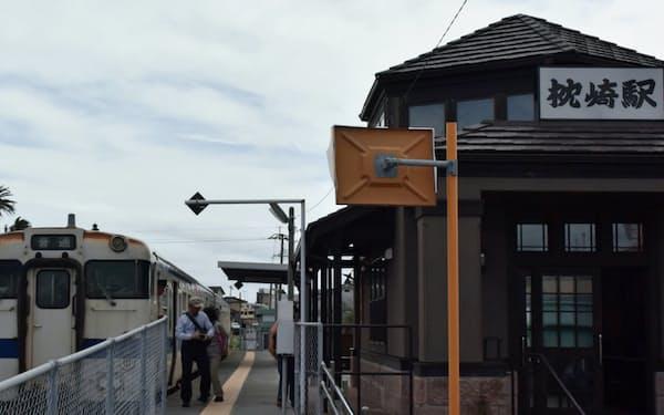 乗降客もまばらな枕崎駅(鹿児島県枕崎市)