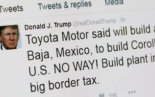 トランプ氏は「米国に工場を建てるか、高い関税を払え」とツイッターに投稿した