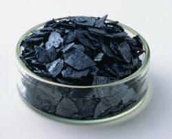 ヨウ素は黒紫色の個体で気化しやすく臭気がある