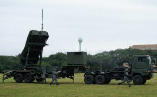 不測の事態に備えPAC3訓練にあたる自衛隊