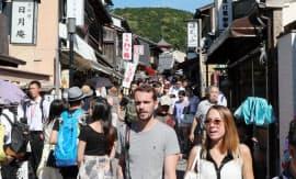 訪日客が長期滞在する京都市