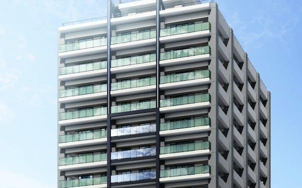 セキスイハイム東海が栄に建設するタワーマンションのイメージ