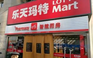 ロッテが展開する中国の店舗は苦戦が続く(北京市)