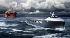 英ロールス・ロイスが計画する無人船(同社提供のイメージ)