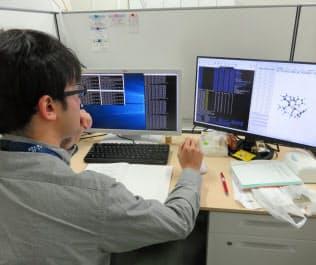 AIなどを活用して材料開発を効率化する(奈良県生駒市の奈良先端科学技術大学院大学)