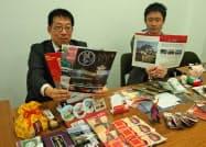 イベントでは浜松市と彦根市の特産品を販売したりパンフレットを配布したりする