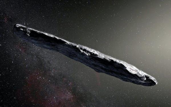 太陽系外から訪れた初めての天体「オウムアムア」の想像図(ESO/M. Kornmesser)