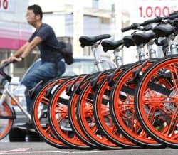 中国のモバイクなど自転車のシェアリングサービスが日本でも増えている(札幌市)
