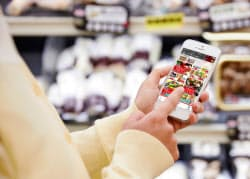 凸版印刷の電子チラシサービス「シュフー」では、利用者の属性に合わせた買い物情報が届く