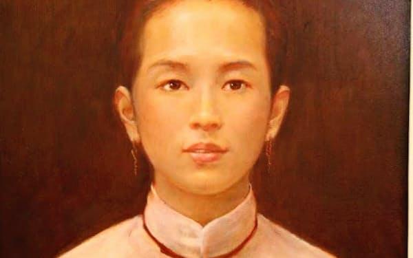 筆者が9歳のときに他界した母の肖像画
