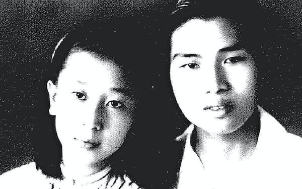 若き日の筆者と恋人の李麗梅氏(左)
