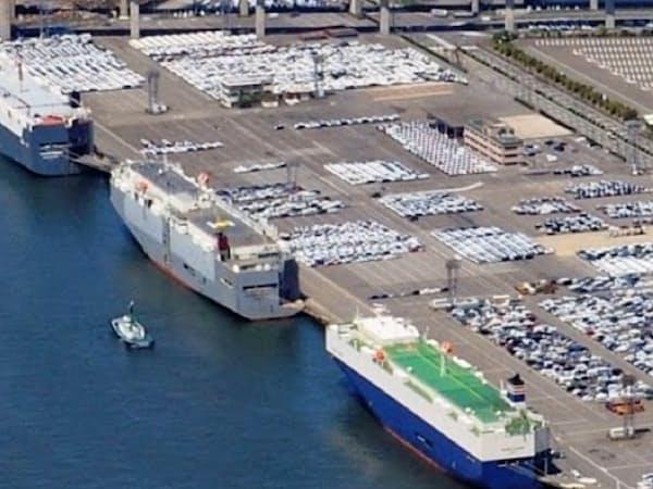 自動車は日本の対米輸出の主軸だ(名古屋港)