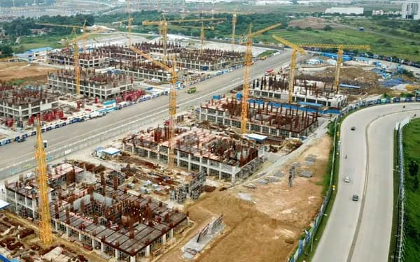 リッポーグループが建設中の新都市「メイカルタ」(4月)