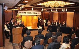 2012年4月、事業構想大学院大学1期生の入学式を開催した