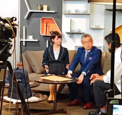 大西氏(写真中央)が出演する「ニッポンの未来百貨店」の収録現場