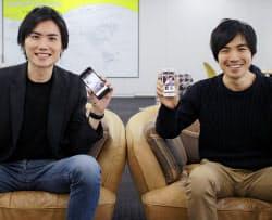 Dine運営会社を創業した上條氏(写真左)