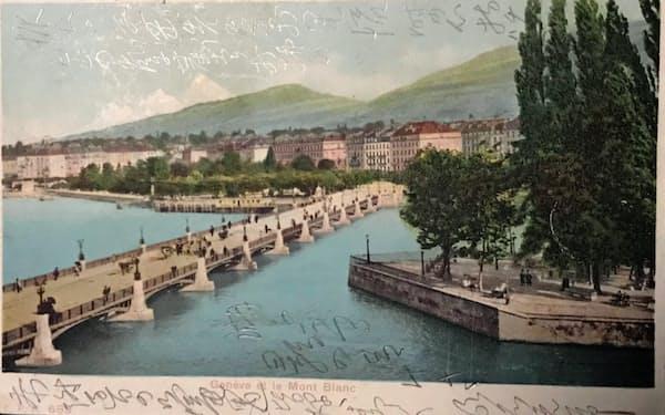 スイスの明石元二郎から加藤拓川にあてた絵はがき(筆者蔵)