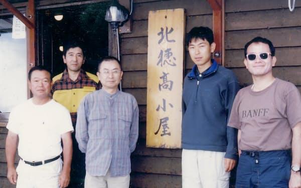 仲間と北穂高も登った(左から3人目が筆者)