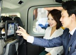 ジャパンタクシーは決済機能付きタブレット端末の展開を進めている