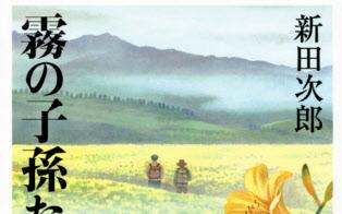 同郷の作家、新田次郎の作品はよく読んだ(「霧の子孫たち」の書影)
