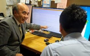 患者がアプリで記録した血圧の値は医師に共有される(川崎市のはとりクリニック)