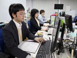 よりそうは顧客からの電話に対して迅速な対応を心がけている(東京都品川区の本社)